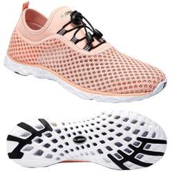 Zhuanglin Women's Quick Drying Aqua Water Shoes,Pinkorange,9