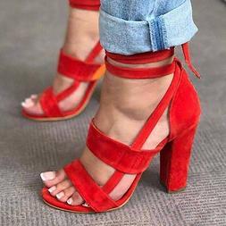 Women's Sandals Sexy Cross Strap High Heel Ladies Summer Pum