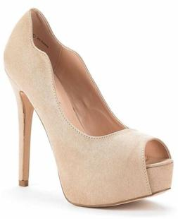 DREAM PAIRS Women's Swan-25 Nude High Heel Plaform Dress Pum
