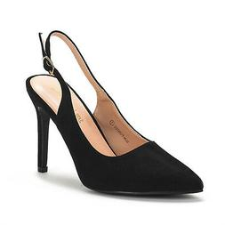 DREAM PAIRS Women Slim-Pointed Toe Stiletto High Heel Slingb