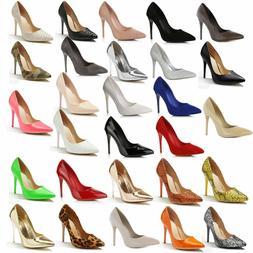 DailyShoes Women Stiletto High Heels Dress Comfort Office La