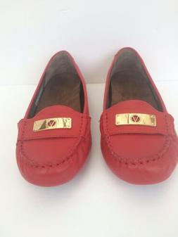 Vionic Womens 8.5 Wide Orthaheel Technology Red Loafer Shoes