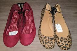 Womens Time & Tru Basic Ballet Flats Casual Dress Shoes