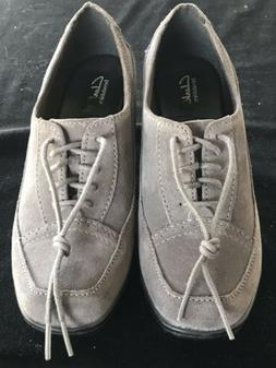 Women's Clarks Bendables Gray Suede Leather Comfort Lace C
