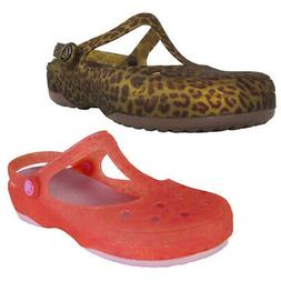 Crocs Womens Carlie Animal Wave Mary Jane Shoes