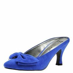 Bellini Womens Cheer Pointed Toe Classic Pumps, Royal Blue,