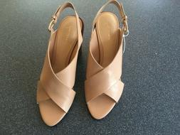 WOMENS  DRESS SHOES SIZE 10 HEELS LEATHER NWT ONLY $12.95