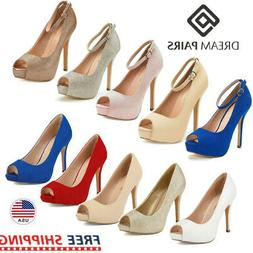 DREAM PAIRS Women's Pump Shoes Stilettos High Heel Dress Pum
