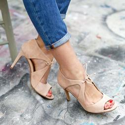 Womens High Heels Open Toe Ankle Strap Ladies Summer Party D