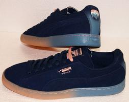 Puma X Pink Dolphin Suede Classic PD Dress Blue Coral Pink S