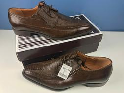 Z. Vaughn Mens Brown Dress Shoes Size 14 Wood Finish