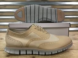 Cole Haan Zerogrand No Stitch Oxford Dress Shoes Light Tan M