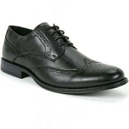 mens wing tip dress shoes oxfords black