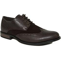 Alpine Swiss Zurich Mens Wing Tip Oxfords TwoTone Brogue Med